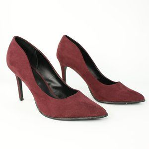 Call it Spring Burgundy Red Pointed Toe Heels 8.5